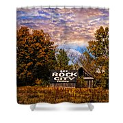 Rock City Barn Shower Curtain by Debra and Dave Vanderlaan