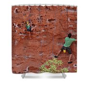 Rock Climbing 101 Shower Curtain