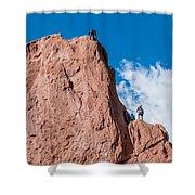 Rock Climbing  Shower Curtain