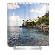 Rock Cottage Shower Curtain