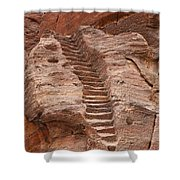 Rock Cut Stairway Of The Street Of Facades Petra Jordan Shower Curtain