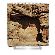 Rock Face 3 Shower Curtain