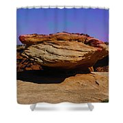 Rock Formation In Canyon De Chelly Shower Curtain