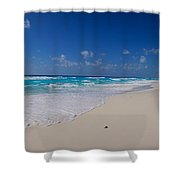 Rock Formation On The Coast, Cancun Shower Curtain