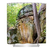 Rock Formation Wildcat Den State Park Shower Curtain