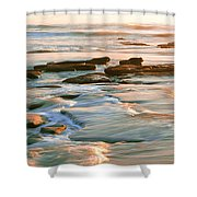 Rock Formations At Windansea Beach, La Shower Curtain