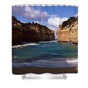 Rock Formations In The Ocean, Loch Ard Shower Curtain