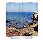 Rock Formations On The Beach, Marcona Shower Curtain
