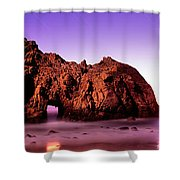 Rock Formations On The Beach, Pfeiffer Shower Curtain