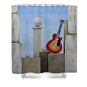 Rock Guitar Les Paul Custom Shower Curtain