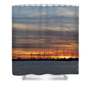 Rock Hall Sunset I Shower Curtain
