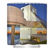 Rock Hall Sunset Shower Curtain