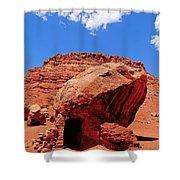Rock House In Arizona Shower Curtain