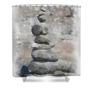 Rock Markers Photo Art 01 Shower Curtain