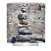 Rock Markers Photo Art 02 Shower Curtain