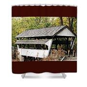 Rock Mill Covered Bridge Ohio Shower Curtain