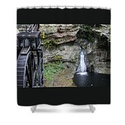 Rock Mill Water Fall In Ohio Shower Curtain