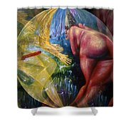 Rock 'n Roll Babe Captivates Shower Curtain