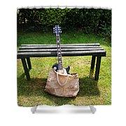Rock N Roll Guitar In A Bag Shower Curtain