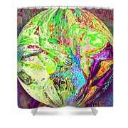 Rock 'n Roll In Crazy-gushing Colours Shower Curtain