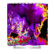 Rock 'n' Roll In Purple Night Shower Curtain