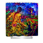Rock 'n' Roll In The Rhythms Of Colours Shower Curtain