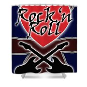Rock N Roll Union Jack Shower Curtain