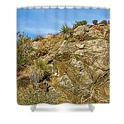 Rock Pile In Black Rock Canyon On Panorama Loop Trail In Joshua Tree National Park-california Shower Curtain