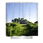 Rock Pyramid Shower Curtain