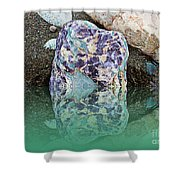 Rock Reflections - Water - Beach Shower Curtain