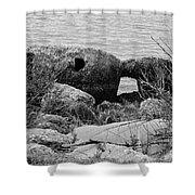 Rock Shoreline Shower Curtain