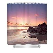 Rock Sunset 03 Shower Curtain