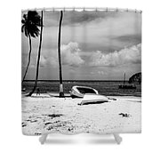 Rock The Boat  Black And White Shower Curtain