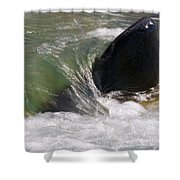 Rock The River Shower Curtain
