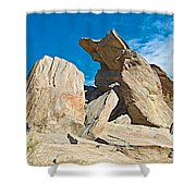 Rock Uplifts In Andreas Canyon In Indian Canyons-ca Shower Curtain