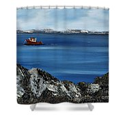 Rock View Shower Curtain
