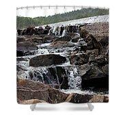 Rock Water Shower Curtain
