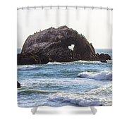 Heart Rock Near San Francisco Ca Cliff House Shower Curtain