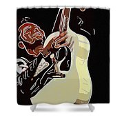 Rockabilly Electric Guitar Player  Shower Curtain by Tommytechno Sweden