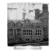 Rockefeller Hall - Bryn Mawr In Black And White Shower Curtain