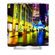 Rockefeller Center Christmas Trees - Holiday And Christmas Card Shower Curtain