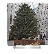 Rockefeller Christmas Tree Shower Curtain