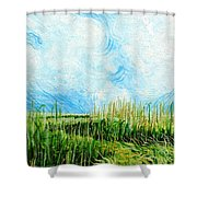 Rockefeller Coastal Marsh Louisiana  Shower Curtain