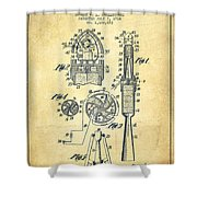 Rocket Apparatus Patent From 1914-vintage Shower Curtain