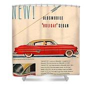 Rocket Oldsmobile Shower Curtain