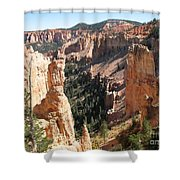 Rockformation At Bryce Canyon  Shower Curtain