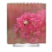 Rockin Pink Bee Shower Curtain