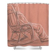 Rocking Chair Shower Curtain