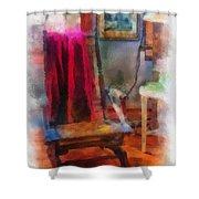 Rocking Chair Photo Art Shower Curtain
