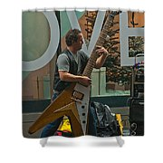 Rocking Times Square Shower Curtain